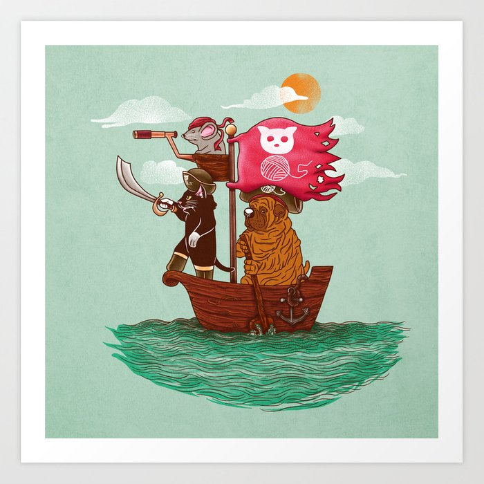 The Pirates Art Print