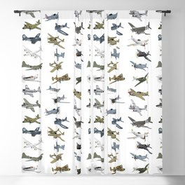 Various American WW2 Airplanes Blackout Curtain
