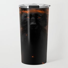 Crowned Wolf Travel Mug