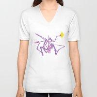 jurassic park V-neck T-shirts featuring Jurassic Park Dinosaur Skeleton  by Sparrow Prince