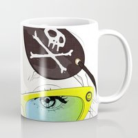 pirates Mugs featuring Pirates Mania by SEVENTRAPS