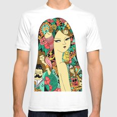 Girl with Tattoo X-LARGE White Mens Fitted Tee