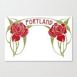Art Nouveau Roses Portland by Seasons K Designs Canvas Print