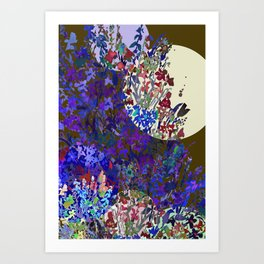 Harvest Moon Garden Art Print