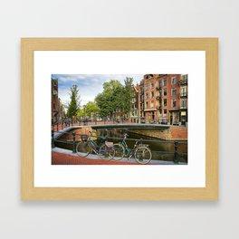 Canal Crossing - Amsterdam Souvenir Framed Art Print