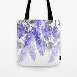 Purple Wisteria Flowers Tote Bag