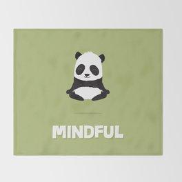 Mindful panda levitating Throw Blanket