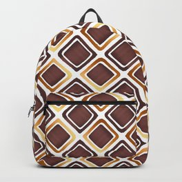 Squares Pattern - Brown & Gold Backpack
