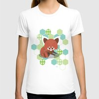 red panda T-shirts featuring Red Panda by Steph Dillon