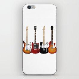 Four Electric Guitars iPhone Skin