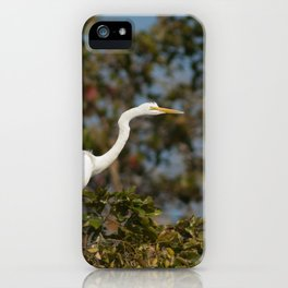 Great egret. iPhone Case