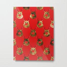 Reindeer Pattern Metal Print