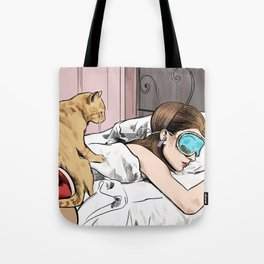 Holly Golightly the cat with no name - Audrey Hepburn in Breakfast at Tiffany's Tote Bag