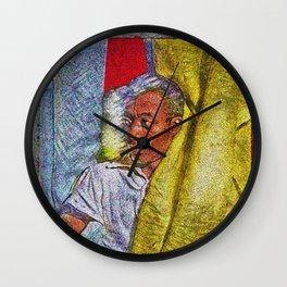 Harlem Renaissance 'James Baldwin' Portrait by Jeanpaul Ferro Wall Clock