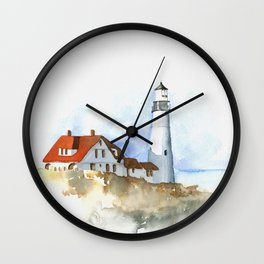 Lighthouse in Morning Light Wall Clock