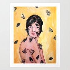 Attraction/Repulsion {Moths} Art Print