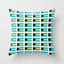 flag of Bahamas – Nassau,Bahamian,Bahamianese,Junkanoo,Regattas Throw Pillow