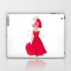 Ledy with flowers Laptop & iPad Skin
