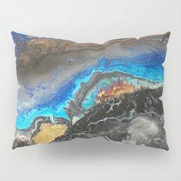 Storm Brewing - Fluid art on canvas Pillow Sham