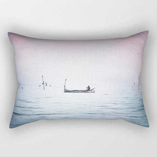The Lonely Man and The Infinite Sea Color Version Rectangular Pillow
