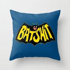 BATSHIT Throw Pillow