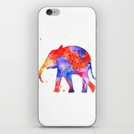 Colorful elephants iPhone Skin