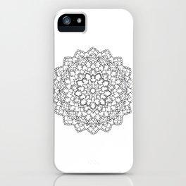 White Lace Mandala iPhone Case