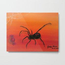 Spider Bait Metal Print