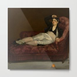 """Édouard Manet """"Young Woman Reclining in Spanish Costume"""" Metal Print"""