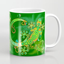 Gecko Lizard Colorful Tattoo Style Coffee Mug