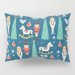 Nutcrackers under the Christmas Tree Pillow Sham