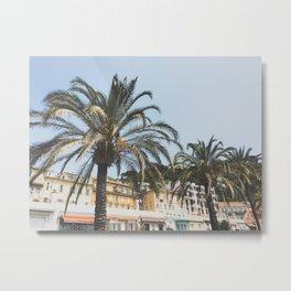 Cote d'Azur Palms Metal Print