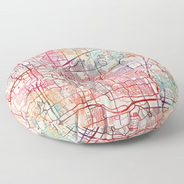 Plano map Texas painting Floor Pillow