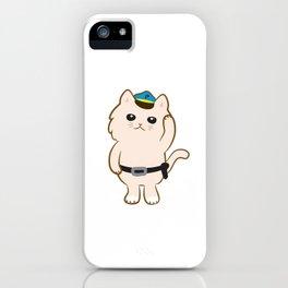 Animal Police - Cream cat iPhone Case