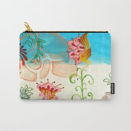Sea Shell Flowers II Carry-All Pouch