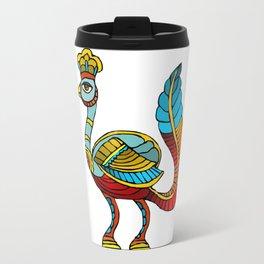 Ancient Egyptian Painting - Peacock Deity Travel Mug