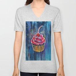 Rainbow Cupcake Unisex V-Neck