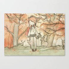 Autumn girl Canvas Print