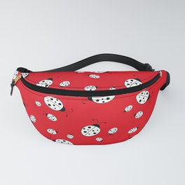 Ladybugs on Red Fanny Pack