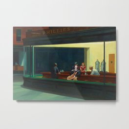 Pennywise in Hopper's Nighthawks Metal Print