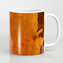 Mosaic Grunge in Orange Coffee Mug