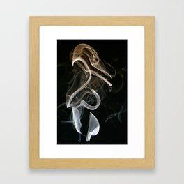 Smoke C-7 (The Cyborg Penguin) Framed Art Print