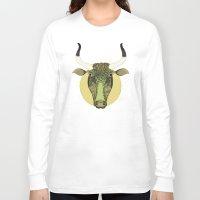 taurus Long Sleeve T-shirts featuring Taurus by Vibeke Koehler