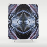 dot Shower Curtains featuring DOT by graphdeville