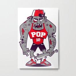Mr. POP the zombie Metal Print