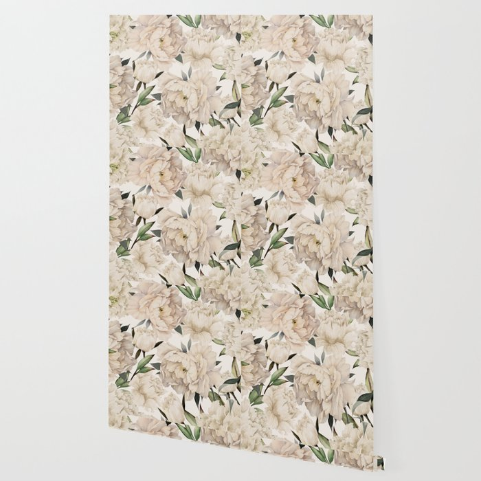 Peonies Pattern Wallpaper