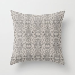 Mascara Vertical Lace Throw Pillow