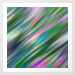Pastel Flash Abstract Art Print