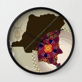 Democratic Republic of the Congo Stylized Wall Clock