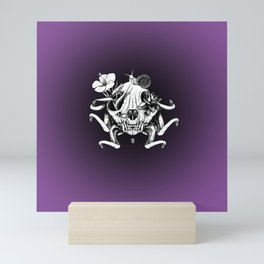 The Skull the Flowers and the Snail Mini Art Print